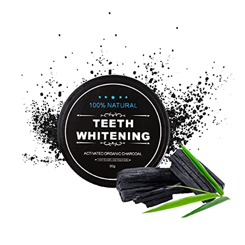 CalmaDragon Polvo blanqueador de dientes con carbón de bambú activado. Acticoco Con cascara de coco. Blanqueamiento Inmediato