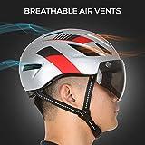 Zoom IMG-1 tomshoo casco da bici motociclista