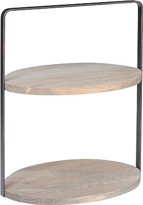 キーストーン 小物ラック ブラッシュド ワイヤー テーブルラック オーバル 26.3×18×32cm ブラウン IN050287