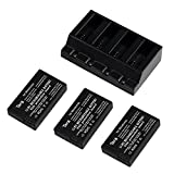 Tera Multi Rapid Battery Charger with 3Pcs 3.7v 630mAh Li-po Battery Kit for Parrot Mini Airborne Night Drone Airborne Cargo Drone Hydrofoil Drone Jumping Race Drone Jumping Night Drone