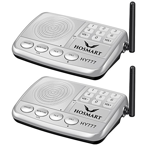 Wireless Intercom System Hosmart 1/2 Mile Long Range 7-Channel Security Wireless Intercom System for...