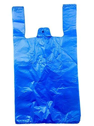 2PACKS APPROX 170 BLUE VEST PLASTIC CARRIER BAGS(11X17X21), 16.0 Micron goed voor deze prijs elke verpakking 85 BAGSITS een AVERAGE KWALITEIT TAS EN SUITALBLE VOOR DAG EN ALGEMENE SHOPPING We gebruiken het in ons magazijn de hele tijd