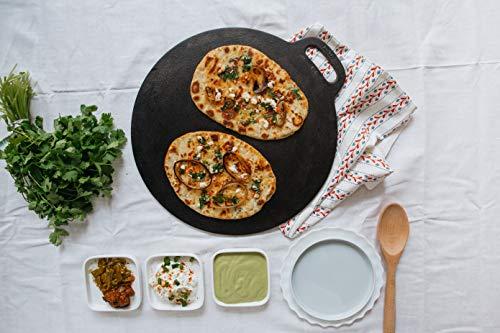 Victoria Cast Iron Pizza Crepe Pan, Dosa, Roti Tawa, Budare, 15 Inch, Black
