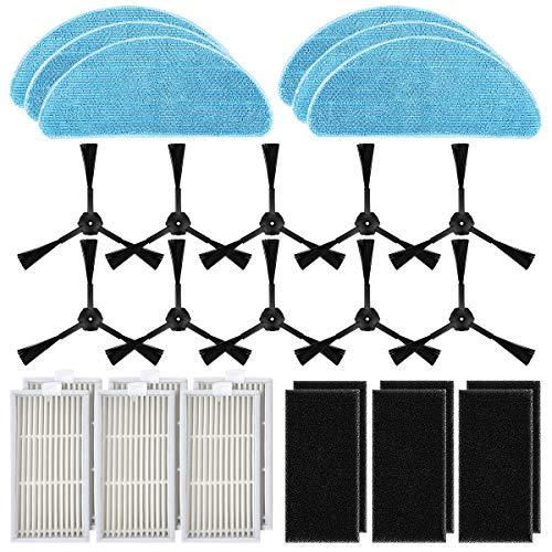 POWER-XWT Pièces de Rechange Accessoires Filtres Velcro HEPA en Tissu pour ILIFE V3 Pro V3 V5 V5 et V5 par aspirateur Robot