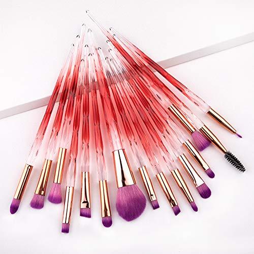 15 Pcs Pinceau De Maquillage Avec Poignée En Plastique Brosse En Nylon Maquilleur Débutant Outils Professionnels Beauté Set,2