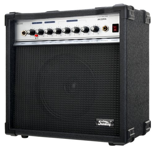 test & Vergleich Soundking AK20-RA Black Guitar Combo (60 W, 8-Zoll-Lautsprecher, 2-Kanal, 4-Band-EQ, digitaler Hall)
