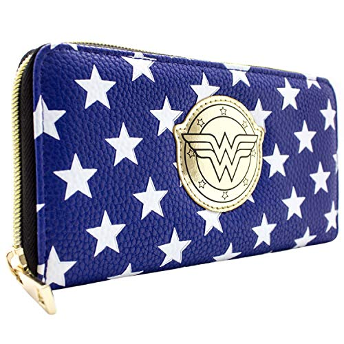 DC Wonder Woman Sterne Kostüm Blau Portemonnaie Geldbörse