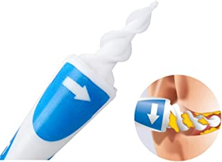منظف الأذن بملعقة الأذن، ممسحة أذن ذكية مع برغي ناعم يمنع أداة العناية بالأذن مع 16 منظف أذن بديل (قطعتان)