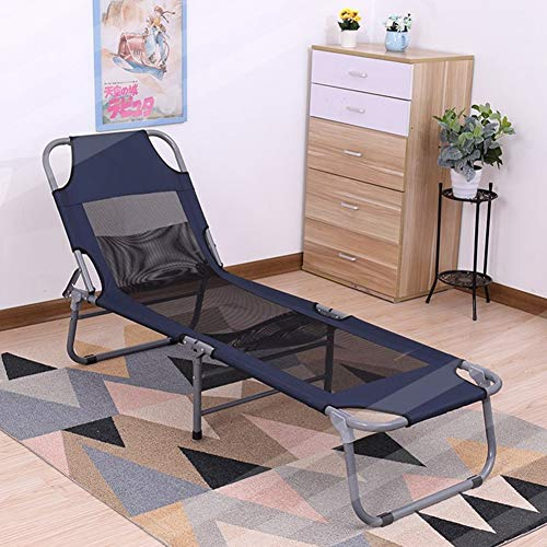 YUMUO Portátil Tumbona Plegable,Gravedad Cero Interior Tumbona Reclinable para Sala De Estar Picnic,Ajustable Cama Plegable I 190x58cm(75x23inch)