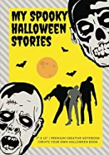 My Spooky Halloween Stories: Create Your Own Halloween Book, 100 Pages, Bright Yellow (Campfire Stories) (Volume 2)