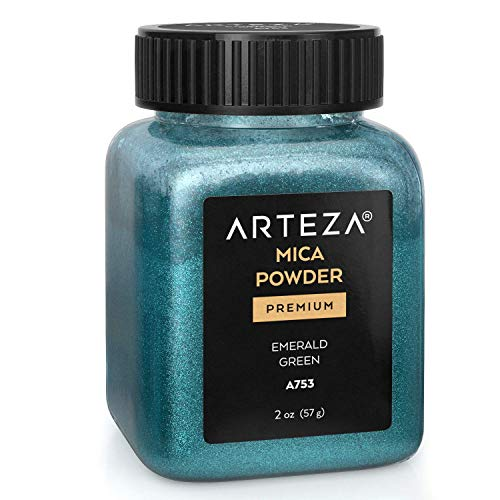 Arteza Mica Pulver Smaragdgrün A753, Epoxidharz Farbe Pulver, 57g Flasche, Glimmerpulver in...