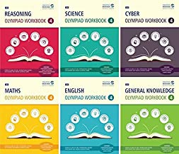 SBB Reasoning, Maths, Science, Cyber, English & GK Olympiad Workbook Combo - Class 4