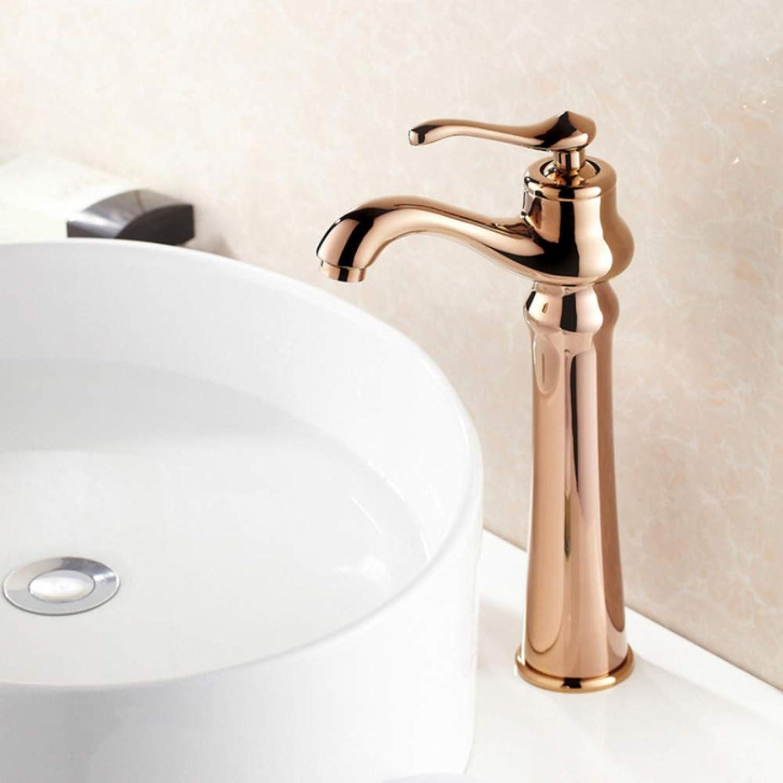 Lddpl Wasserhahn Hochwertige Einhand RoséGold Wasserhahn Waschbecken Mischbatterie Waschtischarmaturen Warmes Und Kaltes Wasser