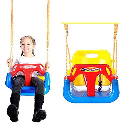 Children's 3-in-1 Swing met rugleuning, met rugleuning en zitting Belt Gratis Swing in hoogte verstelbare Rope Baby van de Tuin Seat