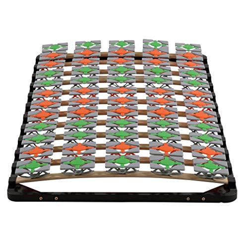 i-flair Lattenrost 100x200 cm Lattenrahmen Tellerlattenrost Flower Ergo IF57 - für alle Matratzen geeignet - alle Größen