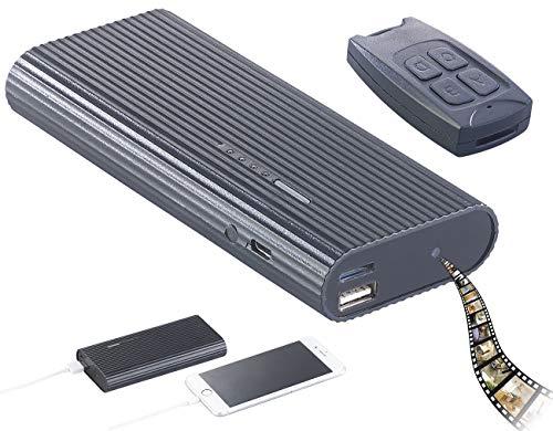 reVolt Powerbank Cam: 2in1-Powerbank mit Full-HD-Kamera und IR-Nachtsicht, 6.000 mAh, 1 A (Powerbank Camera)
