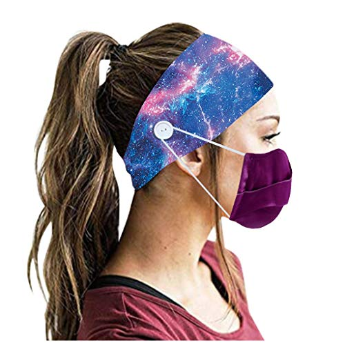 jieGorge 3PCS Men Women Sweatband Headbands with Buttons Running Yoga Elastic Hair Band , Headband , Clothing Shoes & Accessories Sales (F)