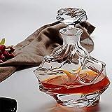 Whiskey CARAFE WHISKY Decanter Set con 6 gafas Bourbon 320 ml para licor, escocés, brandy, fluctuación de vodka Whisky Whisky Glass Gift Set 900 ml Decanter para hombres Regalo de whisky para hombres