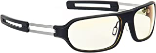Gunnar Trooper Computer and Gaming Glasses with Light Amber Tinted Lenses and Adjustable Nose Pads - Raven Amber