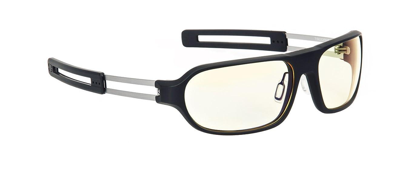 GUNNAR Gaming and Computer Eyewear/Trooper, Amber Tint - Patented Lens, Reduce Digital Eye Strain, Block 65% of Harmful Blue Light