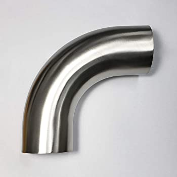 2.5//2Inch 201 Stainless Steel 90 Degree Bend 63//51mm Elbow Exhaust Pipe Nice DSU