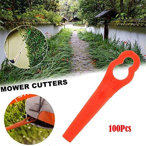 20/50/100 stuks reservemessen voor grastrimmer en accutrimmer, kunststof mes, gemakkelijk vervangbaar, 4008 007 1000 100Pcs