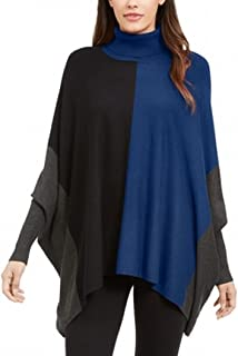 Alfani Womens Sweater Blue Black US Size Large L Colorblocked Pullover