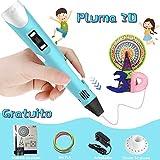Pluma 3D,HOTSO Pluma de Impresión 3D Profecional con Pantalla LCD 3D Pen Inteligente con 3 Colores Filamentos Lapiz Bolígrafo Bolí 3D,Regalos de Cumpleaños y Navidad para Niños,Adolescentes,Adultos