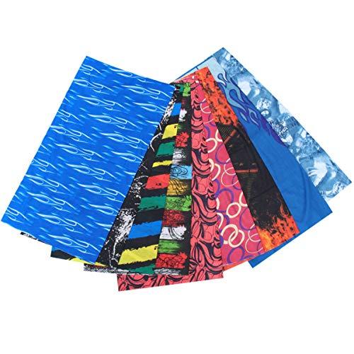 FRCOLOR 9pcs bandeaux multifonctionnels, bandeaux de sport Bandana élastique Headwear Bandana extérieur foulard pour hommes femmes unisexe