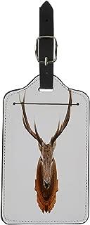 Semtomn Luggage Tag Trophy Deer Head Animal Wall Stag Taxidermy Reindeer Elk Suitcase Baggage Label Travel Tag Labels