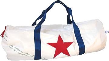 Segeltuchtasche für Travel und Sport mit rotem Stern