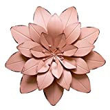 Best Wall Decor For Bedrooms - GIFTME 5 Pink Floral Metal Wall Art Décor Review
