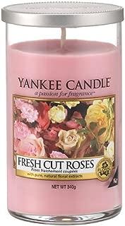 Yankee Candles Medium Pillar Candle - Fresh Cut Roses