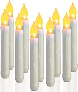6 inch flameless taper candles