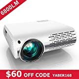 YABER Native 1080P Projector 6800 Lux Upgrade Full HD Video Projector 1920 x 1080, ±50° 4D Keystone Correction Support 4k & Zoom,LCD LED Home Theater Projector Compatible with Phone,PC,TV Box,PS4