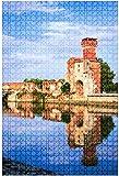 Rompecabezas de madera 500 piezas Sacro Monte di Belmonte's Church Divertidos y desafiantes Rompecabezas de mesa Juego Juguetes Regalo Decoración para el hogar-Puzzle9