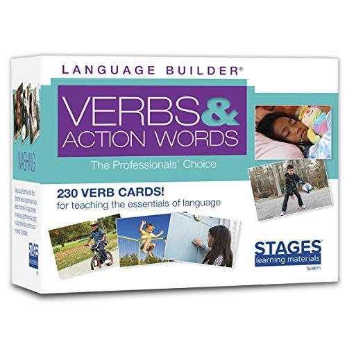 Stages Learning SLM011 Language Builder Verbs und Action Words Lernkarten für ABA und Autismus, Mehrfarbig