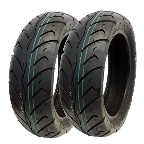 Sale!! MMG Tire Set: Front Tire 120/70-12 Rear Tire 130/70-12 Street Tread for Kymco Agility Like Su...