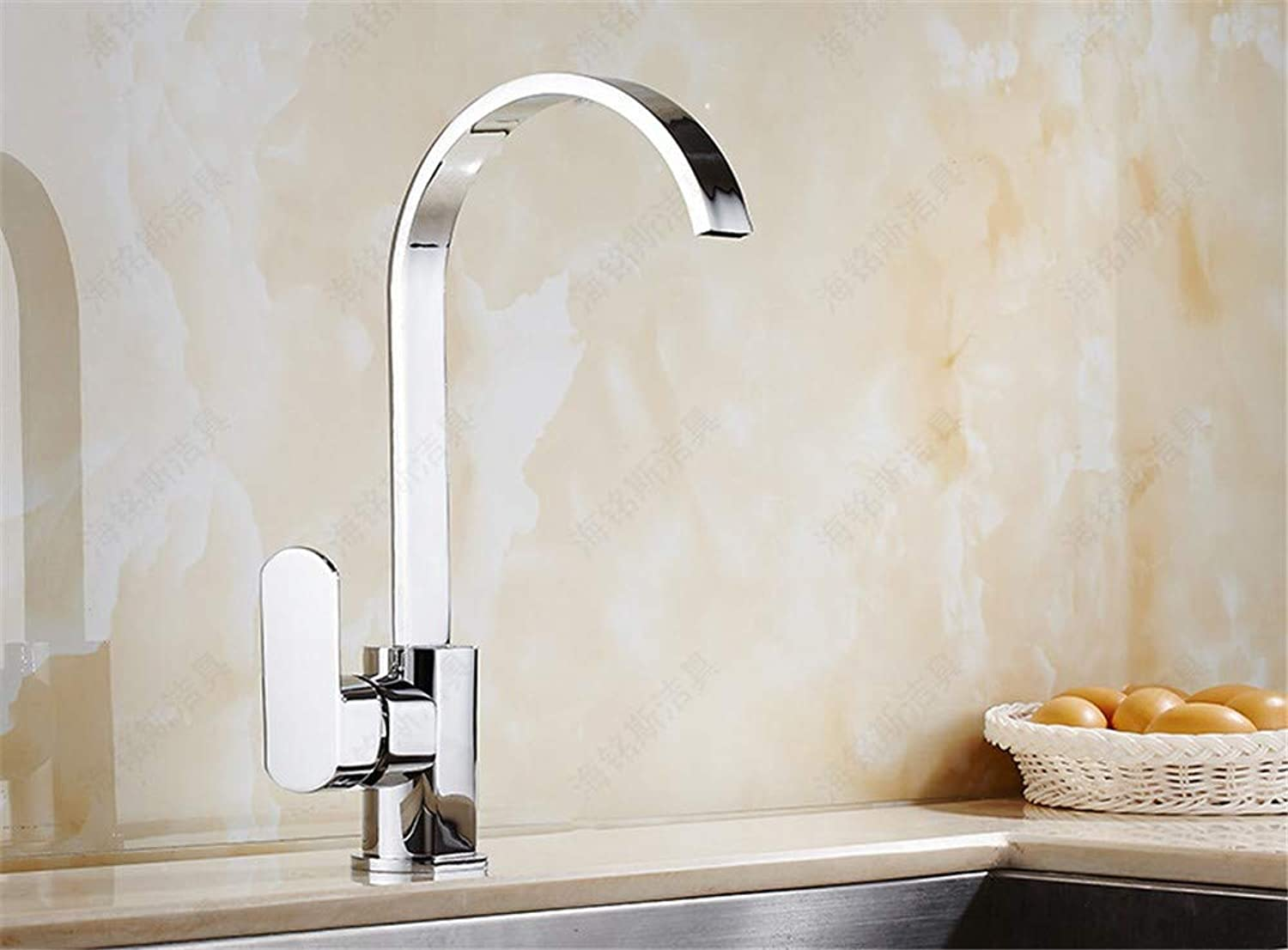 Sink Tap Kitchen Sink Sink Basin Above Counter Basin Hot and Cold Water Faucet Flat Tube Can Be redated