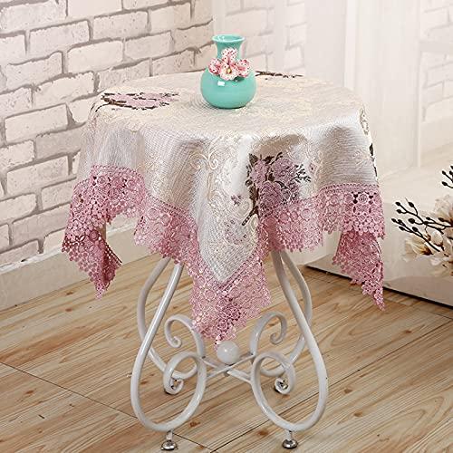 sans_marque Manteles, utilizados para mesas de interior y exterior, manteles - manteles de cena sólidos para bodas restaurantes cafeterías de 100 cm