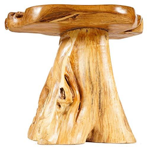 WINDALF Natur Beistelltisch Merry 55 cm Kleiner Rustikaler Couchtisch Handarbeit aus Wurzel-Holz