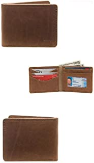 Saddleback Leather Co. Medium Full Grain Leather Bifold ID Window Wallet for Men Includes 100 Year Warranty