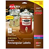 Avery Removable Labels with Sure Feed for Laser & Inkjet Printers, 3.5
