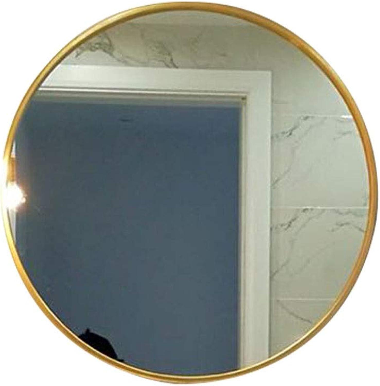 Wall-Mounted Mirrors Mirror Bathroom Mirror Wrought Iron Wall Mirror Round Mirror Bathroom Mirror Makeup Mirror Entrance Mirror Decorative Mirror (color   gold, Size   40  40  5cm)