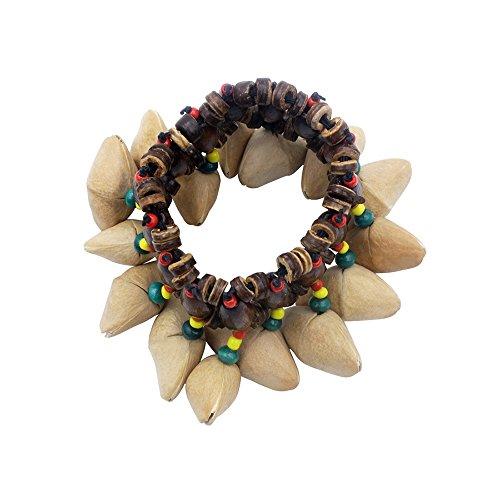 ammoon Handgefertigte Nuts Shell Armband Handbell für Djembe African Drum Conga Percussion Zubehör