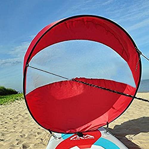 FHXY Downwind Sail - Kit de vela portátil de 108 cm, para kayak, canoa, barco inflable