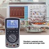 Osciloscopio portátil, multímetro 2 en 1 forma de onda Pantalla de alta definición automática normal y monomodo con luz de fondo para 50 formas de onda para 100 conjuntos de datos