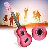 Jacksking Guitarra para niños, 21 Pulgadas Niños Ukelele Guitarra para niños Instrumento Musical Niños Juguete Educativo Regalo Ukelele Juguete para niños Niños Estudiantes(Rosado)