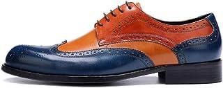 KTYXGKL Non-Slip Wear-Resistant Shoes Men's Casual Shoes Brock Carved Men's Shoes Banquet Shoes 37-46 Yards Men's Leather Boots (Color : Orange, Size : 46)