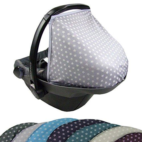 BAMBINIWELT Sonnenverdeck UV50+ für Maxi-Cosi PEBBLE STERNE (hellgrau Sterne) XX
